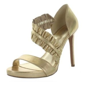 Michael Kors Bella Womens Leather Heels Platform